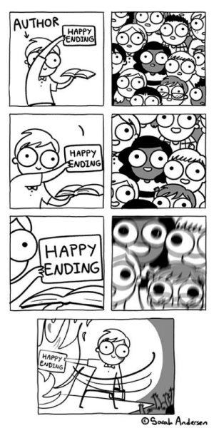 Meme, Happy, and Comics: AUTHORHAPPT  NDING  HAPPY  NDING  HAPPY  NDING  HAPPY  ENDING  Soa Andersen Meme Comics are always a hit! An instant buy!