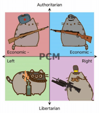 The trigger discipline on lib right Pusheen makes me a bit nervous.   - Chairman Trash: Authoritarian  Economic  PEM Economic  Left  Right  O DO  Libertarian The trigger discipline on lib right Pusheen makes me a bit nervous.   - Chairman Trash