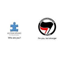 """Memes, Autism, and Time: AUTISM SPEAKS  It's time to listen.  Who are you?  FASCHIST  AKTION  I'm you, but stronger """"The weak should fear the strong."""" - Sam Hyde (while choke holding a woman)"""