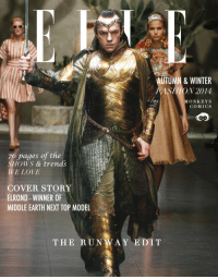 "<p><a class=""tumblr_blog"" href=""http://monkeyscomics.tumblr.com/post/102369984992/elrond-on-elle-magazine-cover-the-runway"" target=""_blank"">monkeyscomics</a>:</p> <blockquote> <p><span><strong>Elrond on ELLE magazine cover</strong>, the runway issue!!!! He won the Middle Earth Next Top Model!!! (Thranduil must be jealous)</span></p> <p><span>(Learn photoshop in design school to fake all of you, haha)</span></p> </blockquote>: AUTUMN & WINTER  FASHION 2014  MONKEYS  COMICS  76 pages of the  SHOWS & trends  WE LOVE  COVER STORY  ELROND - WINNER OF  MIDDLE EARTH NEXT TOP MODEL  THE RUNWAY EDIT <p><a class=""tumblr_blog"" href=""http://monkeyscomics.tumblr.com/post/102369984992/elrond-on-elle-magazine-cover-the-runway"" target=""_blank"">monkeyscomics</a>:</p> <blockquote> <p><span><strong>Elrond on ELLE magazine cover</strong>, the runway issue!!!! He won the Middle Earth Next Top Model!!! (Thranduil must be jealous)</span></p> <p><span>(Learn photoshop in design school to fake all of you, haha)</span></p> </blockquote>"