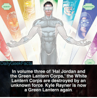 Who do you think destroyed the White Lanterns? _ whitelantern whitelanterncorps kylerayner greenlantern haljordan johnstewart guygardner greenlanterncorps haljordanandthegreenlanterncorps dc dccomics dcfacts dailygeekfacts: AVARICE  COMPASSION  DailyGeekFacts  LOVE  In volume three of 'Hal Jordan and  the Green Lantern Corps,' the White  Lantern Corps are destroyed by an  unknown force. Kyle Rayner is now  a Green Lantern again Who do you think destroyed the White Lanterns? _ whitelantern whitelanterncorps kylerayner greenlantern haljordan johnstewart guygardner greenlanterncorps haljordanandthegreenlanterncorps dc dccomics dcfacts dailygeekfacts