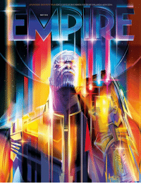 Empire, Memes, and Avengers: AVENGERS: INFINITY WAR EXCLUSIVE SUBSCRIBER COVER BY ORLANDO AROCENA  DIR  MAY 201 Empire has unveiled a new cover featuring none other than Thanos himself.  (Robert Gabel Jr) Astronomicon!