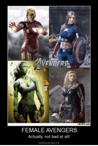 Avengers: AVENGERS  LOLAZY.com  FEMALE AVENGERS  Actually, not bad at all!  heydemotivate.me