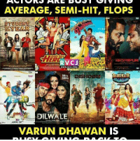 Varun Dhawan rvcjinsta: AVERAGE, SEMI-HIT, FLOPS  TUDENT  WWW. RVOJ COM  AH  18TH  DEC.  DILWALE  JUNE 19  VARUN DHAWAN IS Varun Dhawan rvcjinsta