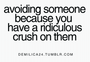Crush, Tumblr, and Com: avoiding someone  because you  have a ridiculous  crush on them  DEMILICA24.TUMBLR.COM