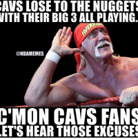 Basketball, Nba, and Sports: AVS LOSE TO THE NUGGETS  WITH THEIR BIG 3 ALL PLAYING  @NBAMEMES  C'MON CAVS FANS  ET SHEAR THOSE EXCUSES nbamemes nba cavs