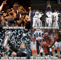 Crazy things have happened in sports in the last two years... https://t.co/75VElbVCUK: AVS WIN NBA FINALSCUBS WIN WORLD SERIES  EAGLES WIN'SUPER BOWL  BROWNS WINA GAME Crazy things have happened in sports in the last two years... https://t.co/75VElbVCUK