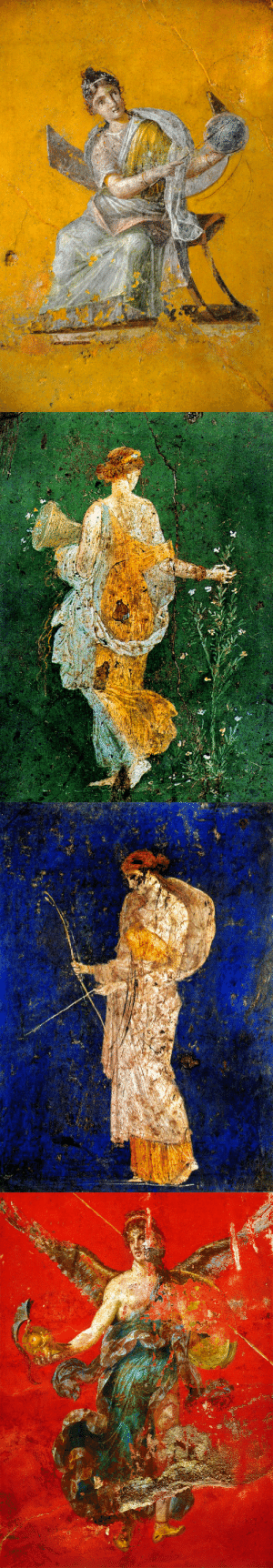 avvoltoio: Roman Frescoes + Solid Colors 1) The Muse Urania from the House of Julia Felix, Pompeii2) Flora from the Villa Arianna, Stabiae3) Diana the Huntress from the Villa Arianna, Stabiae4) Winged Victory from the Inn of the Sulpicii, Murecine   : avvoltoio: Roman Frescoes + Solid Colors 1) The Muse Urania from the House of Julia Felix, Pompeii2) Flora from the Villa Arianna, Stabiae3) Diana the Huntress from the Villa Arianna, Stabiae4) Winged Victory from the Inn of the Sulpicii, Murecine