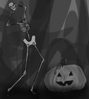 Life, Zero, and Pumpkin: AW Before time, Greg and his Pumpkin celebrated the initiation of Spooktober (drawing brought to life with zero effort.)