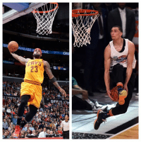Dunk, LeBron James, and Sports: AW  CRU  23  es  orRALi  B Zach LaVine says he could beat LeBron James in a slam dunk contest. Who are you taking, the rookie or the king? ZaVine LeBron