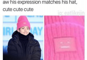 I' M D Y I N G/ /: aw his expression matches his hat,  cute cute cute  ig: eatlikeiin  IRI I' M D Y I N G/ /