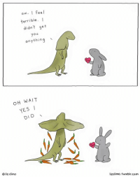 Oh, wait! 🥕❤: aw. I Feel  terrible. I  didnt get  yo  anything  OH WAIT  YESI  DID  O liz climo  lizclimo. tumblr.com Oh, wait! 🥕❤