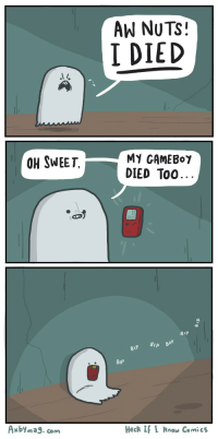"Death, Http, and Wholesome: AW NUTS!  I DIED  OH SWEET,  MY GAMEBor  DIED Too  BIP  BIP  Axbyma9. com  Heck I I Row Comics <p>Surprisingly wholesome post about death via /r/wholesomememes <a href=""http://ift.tt/2ykNZz9"">http://ift.tt/2ykNZz9</a></p>"