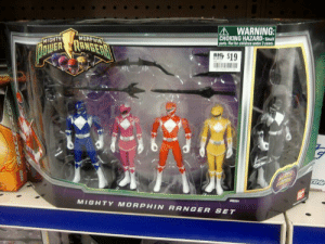 90s90s90s:racism is still alive: AWARNING  CHOKING HAZARD-Smal  parts. Not for children under 3 years  MORPHIN  MIGHTY  MIGHTY MORPHIN RANGER SET 90s90s90s:racism is still alive