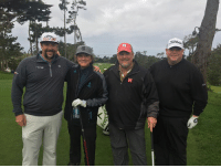 Memes, Otis, and 🤖: away Out with Andres Gonzales, Gary Muledeer and Ray Otis at the AT&T Pebble Beach Pro-Am. Cheer us on today on CBS