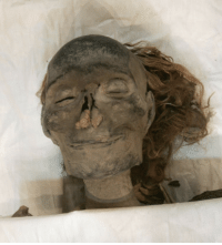 """awenyddogamulosx:  ruthlesswoodcarver:  mothensidhe:  fatfury:  omgxchrissy:  cumleak:  deux-zero-deux:  demands-with-menace:  Queen Hatshepsut of Ancient Egypt. She has a lovely smile for someone who's been dead for thousands of years.  she wasn't a queen. she was a pharaoh and wanted to be referred to as such.she even had her statues modeled after the male pharaoh's statues to state her dominance and authority. she was actually one of the most successful pharaohs in all of ancient egyptian history and she reigned longer than any other woman in power in egypt.  damn no wonder she died and smiled for a trillion years afterwards  The fact that we know about her is marvelous. the next Pharaoh after her Tuthmosis III tried to erase Hatshepsut out of history ,chiseled her name off her monuments ,covered the text on her obelisks with stone,knocked down and defaced her statues . she was even left off the list of pharaohs ..talk about some patriarchy bullshit her name was lost for a couple of millennia, her body was found in a unmarked grave in early twentieth century sad part is in Egyptian belief is if your are forgotten in the living world you don't exist in the afterlife,so he was trying to kill her even in death  My best friend throwing down some herstory. A+ commentary  She wore a fake beard, you guys.She was the fucking boss.  If we remember her now does that save her from an awful afterlife?  I'm just picturing the Kemetic afterlife. All the Pharaohs are hanging out in some kind of swanky club, drinking and congratulating each other on being bros. The doors slam open and Hatshepsut strides in, glorious, robes swirling, rocking the fake beard and the insane amounts of wealth and power. """"Miss me, bitches?"""" : awenyddogamulosx:  ruthlesswoodcarver:  mothensidhe:  fatfury:  omgxchrissy:  cumleak:  deux-zero-deux:  demands-with-menace:  Queen Hatshepsut of Ancient Egypt. She has a lovely smile for someone who's been dead for thousands of years.  she wasn't a queen. she w"""