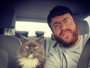 Driving, Tumblr, and Blog: awesomacious:  My cat and I enjoy driving around town and disapproving of everyone we see.