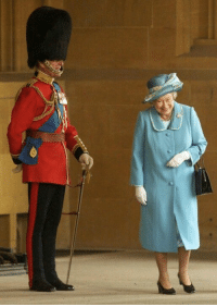 Prince, Tumblr, and Queen: awesomacious:  The Queen struggles to contain her laughter as her husband, Prince Phillip, dresses as a royal guard to 'prank' her
