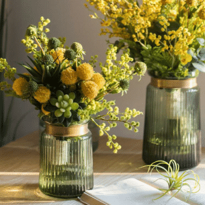 Tumblr, Blog, and Flower: awesomage:  Artificial Flower Bouquet Green Yellow Spring Flowers 13 Tall