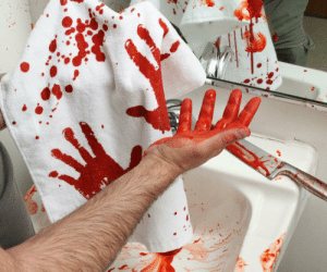 awesomage:  Bloody Hand Towel -   $13.35  : awesomage:  Bloody Hand Towel -   $13.35