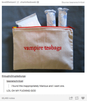 awesomage:  Embroidered Zipper Pouch-Vampire Teabags -   $9.95  : awesomage:  Embroidered Zipper Pouch-Vampire Teabags -   $9.95