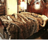 awesomage:  Faux Wolf Fur Bedspread  : awesomage:  Faux Wolf Fur Bedspread