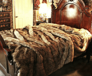 Tumblr, Blog, and Wolf: awesomage:  Faux Wolf Fur Bedspread