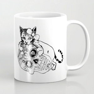 Cute, Halloween, and Tumblr: awesomage:  Halloween Cat MUG