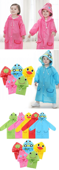 Children, Tumblr, and Animal: awesomage:High Quality Waterproof Kids Raincoat on SPECIAL DISCOUNT PRICEModern Look  Waterproof Protection for your loved onesORDER 3 PIECES and get FREE SHIPPING