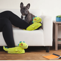 awesomage:  Rugrats Reptar Plush Slippers: awesomage:  Rugrats Reptar Plush Slippers