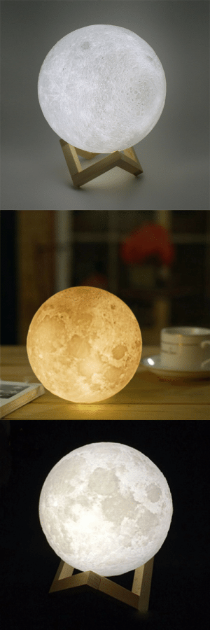 Tumblr, Australia, and Best: awesomage:  The Magical Moon LampDifferent Moon Sizes To Choose FromDecorate your bedroom with this lovely moon light Free Shipping for US, UK, Canada  Australia – BEST INNOVATION PRODUCT OF 2018–