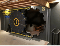 Fallout, Awesome, and Fallout Vault: Awesome Fallout Vault entrance to man cave https://t.co/QqvRQzKBZa