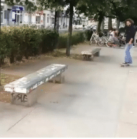 Skateboarding, Awesome, and Whitepeoplegifs: Awesome Skateboard trick i've ever seen (Xpost r/StreetGenius)