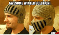 Memes, 🤖, and Solutions: AWESOME WINTER SOLUTION!  MEME  GEN