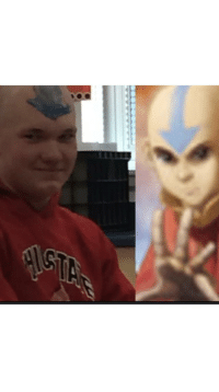 Period, School, and Tumblr: awesomesthesia:  Mitch came back to school bald and during 12th period we went to the bathroom and drew an Avatar arrow on him
