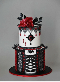 Halloween, Tumblr, and Blog: awesomesthesia:  Sunday Sweets: Spooky Elegant Halloween Cakes