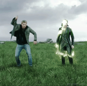 Clothes, Target, and Tumblr: awkwardbisexualaesthetic:  This sums up their differences so well. Like Loki just changes his appearance with magic looking all serious and Thor's just being so extraTM smashing his hammer and summoning an unnecessary amount of lightening for a change of clothes