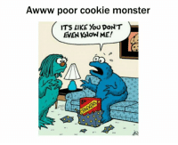 Well that's Awkward: Awww poor cookie monster  IT'S LIKE YOU DON'T  EVEN KNOW ME!  aa Well that's Awkward