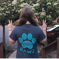 Memes, 🤖, and Com: AwZ Thanks @joni.t19 for the support in our deep sea tribal shirt! Order now at PawzShop.com