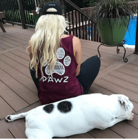 Memes, Black, and 🤖: AwZ Thanks @kendall_yuhas for the support in our maroon tribal tank top and black Pawz hat! Order now at PawzShop.com 🐾