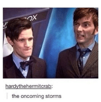 Memes, Predator, and Tardis: ax  hardythehermitcrab:  the oncoming storms Ah yes, the most feared man in the universe, the Predator |>•<| • - doctorwho davidtennant mattsmith christophereccleston petercapaldi billiepiper karengillan arthurdarvill catherinetate freemaagyman jennacoleman nine ten eleven twelve rosetyler riversong amypond rorywilliams claraoswald marthajones donnanoble tardis timelord bowtie fez dalek cyberman weepingangels