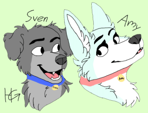 Frick, Horses, and Best: Ay  Sven  Amy  Sven Re-uploading this because it was removed, I hope Felix likes it. I would draw jeb_ or Joērgen#2 but, I can't draw sheep or horses. This is the best I can do! (Felix can get another dog and name her Amy, her and Sven could Frick and have babies)
