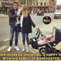 Facebook, Family, and Memes: AYRO  THE  WORLD  DER HERRERA  ENJOYING A HAPPY T  WITH HIS FAMILY AT MANCHESTER Happy family 🔴🔴🔴 . @anderherrera . Pic : The United World (facebook) . mufc manchesterunited ggmu mourinho davesaves reddevils oldtrafford darmian mkhitaryan ibrahimovic bailly pogba waynerooney martial anderherrera rashford philjones daleyblind lingard ashleyyoung valencia lukeshaw smalling daviddegea juanmata manutd14_ manutd14_id