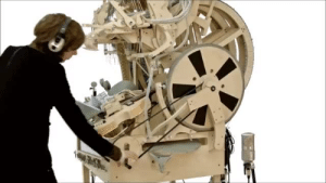Dude, Music, and Target: ayumi-nemera:  queensimia:  icodeforlove:  Wintergatan - Marble Music Machine (2000 marbles)  This is incredible! At first i was like hmm that doesn't sound like music, then the dude drops the beat hard.  Full video (4:33) here!  How the fuck does the beginning not sound like music? ALL of this is good.