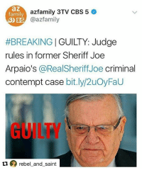 joearpaio racist trumpsupporter anotherone pig sherriff guiltyaf profiling I'll believe showmeyourpapers isn't profiling when I hear Irish , polish or canadians start complaining about being harassed buy ice and police donaldtrump nothingisordinary notmypresident byefelicia: az  family  azfamily 3TV CBS 5  O5 azfamily  #BREAKING | GUILTY: Judge  rules in former Sheriff Joe  Arpaio's @RealSheriffJoe criminal  contempt case bit.ly/2uOyFaU  GUILTY  ロのrebel-and-saint joearpaio racist trumpsupporter anotherone pig sherriff guiltyaf profiling I'll believe showmeyourpapers isn't profiling when I hear Irish , polish or canadians start complaining about being harassed buy ice and police donaldtrump nothingisordinary notmypresident byefelicia