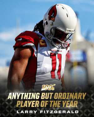 .@AZCardinals WR @LarryFitzgerald is the 2019 Anything But Ordinary Player of the Year!  (presented by @surface) https://t.co/XpWTzjEZYq: .@AZCardinals WR @LarryFitzgerald is the 2019 Anything But Ordinary Player of the Year!  (presented by @surface) https://t.co/XpWTzjEZYq