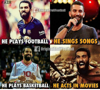 Basketball, Football, and Memes:  #AZR  OriginalTroll Football  HE PLAYS FOOTBALL  HE SINGS SONGS  origina Football  alTrol ALLSTAR  HE PLAYS BASKETBALL  HE ACTS IN MOVIES Arda Turan! 😬😂 🔻FOOTBALL EMOJIS ➡️ LINK IN OUR BIO! 🔥