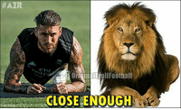 The Lion Is Eagerly Waiting To Roar... SergioRamos:  #AZR  OriginalTrollFootball  CLOSE ENOUGH The Lion Is Eagerly Waiting To Roar... SergioRamos