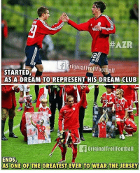 A Dream, Club, and Memes: AZR  OriginalTrollfootball  STARTED,  AS A DREAM TO REPRESENT HIS DREAM CLUB  14  ta  2  OriginalTrollFootball  ENDS  AS ONE OF THE GREATEST EVER TO WEAR THE JERSEY LAHM = (insert word)