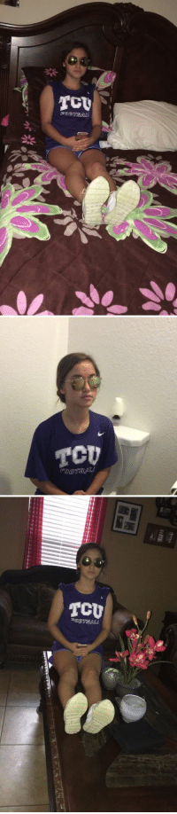 """Funny, Texting, and Text: [B同@TBALL   TCU   TCU  ROOTBALLB waiting for the """"I'm outside"""" text"""